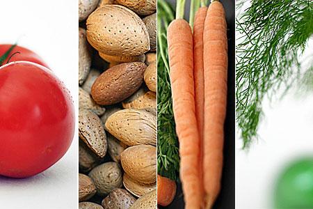 Tomat, krakmandel, morot och dill (klicka för större bild)