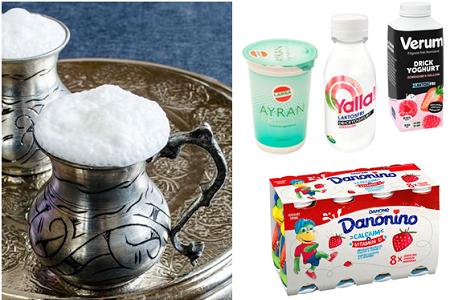 Smaksatt drickbar yoghurt (klicka för större bild)