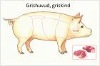 Grishuvud, griskind