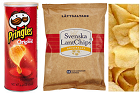 Färdiga potatischips