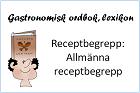 Allmänna receptbegrepp