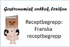 Franska receptbegrepp