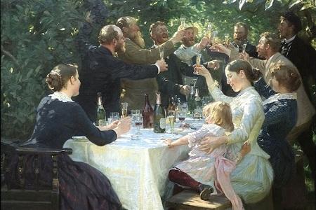 Hipp, hipp, hurra! målad 1888 av Peder Severin Krøyer (något beskuren)