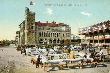 Chili Stands, San Antonia, Texas i slutet av 1800-talet
