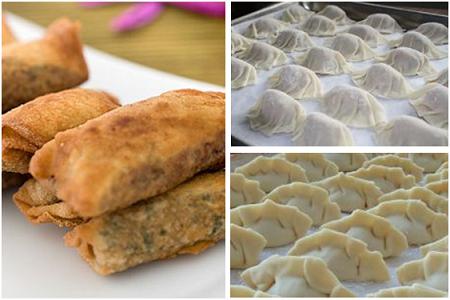 Om vårrullar, asiatiska dumplings