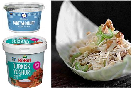 Matyoghurt och coleslaw (klicka för större bild)