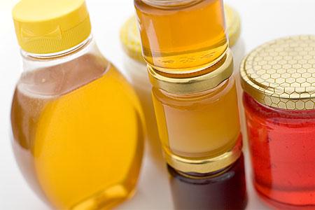 Flytande-, ljus- & mörk- samt smaksatt (jordgubb) honung