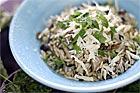Risoni med svamp, tiibehör till mat - recept