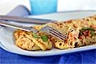 Crêpes med skaldjursstuvning - recept