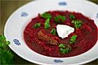 Borsch/borsjtj - ukrainsk/rysk rödbetssoppa - recept