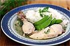 Kokt kyckling i dillsås - recept