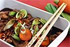 Asiatisk kyckling med bambuskott - recept