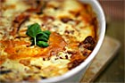 Grekisk moussaka, auberginegratäng - recept