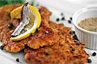 Dubbelpanerad kalkonschnitzel med kapris - recept