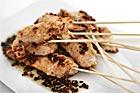 Sesamspanerade kycklingspett till buffé - recept