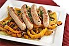 Bratwurst på gul paprikabädd - recept