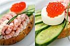 Räksmörgås med ägg - recept