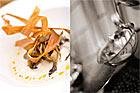 Skummig bönsoppa med whiskystekt ostronskivling samt friterad svartrot (förrätt) - recept