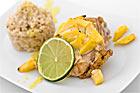 Mango- och limeglaserat kycklinglår - recept