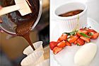 Chokladkaka med punschgrädde samt jordgubbar - recept