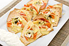 Brie- och papayaquesadillas - recept