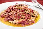 Kalkonschnitzel med löksås - recept