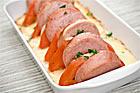 Ostgratinerad falukorv med potatismos - recept