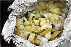 Grillad örtpotatis i folie - recept