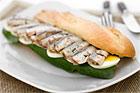 Halvbaguette med ägg och sardin - recept