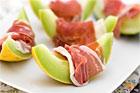 Melon med skinka (lätt måltid) - recept