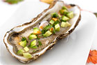 Heta ostron med avokado (förrätt) - recept