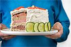 Smörgåstårta med rostbiff, skinka och pastej - recept