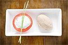Böcklingmousse med gräslökssås i tomat (förrätt) - recept