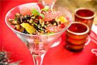 Citruscocktail med balsamkanderade valnötter - recept