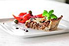 Italiensk paj med Quornfärs, mozarella och oliver - recept