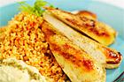 Quorn zahtar med bulgur och hummus - recept