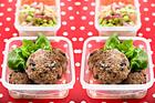 Pannbiff med portabello och edamamesallad - recept