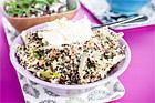 Quinoa med halloumi och pepparrotskräm - recept