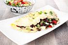 Fransk omelett med mexikansk bönsalsa - recept
