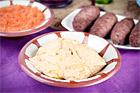 Hummus med tahini, tillbehör till mat - recept
