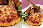 Spättafiskburgare med dill- och senapsrostad aubergine - recept