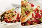 Kycklingfilé med tamaribulgur, russin och nötter - recept