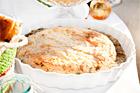 Smördegsinbakad hel basilikabrie (ostefterrätt) - recept