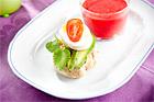 Grahamsfralla med ägg och avokado - recept