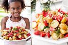 Färsk potatissallad med jordgubbar - recept