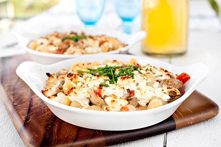 Fetaostgratinerad gnocchi med kyckling