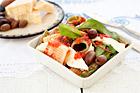 Sallad med rörpasta, mozzarella, oliver - recept