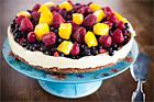 Cheesecake med citronsmak och bär - recept
