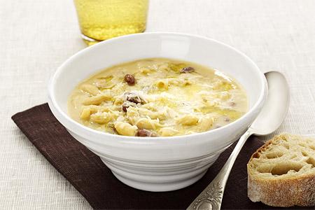 Cornetti e ceci - kikärtssoppa med makaroner