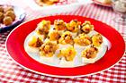 Gul äppelchutney på cheddar (plockmat) - recept